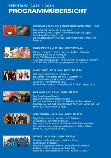 Programmuebersicht 2013-14.pdf - Spektrum Geroldswil