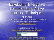 Developing Interactive Lectures Using Active ... - Palomar College