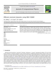 Efficient constraint dynamics using MILC SHAKE Journal of ...