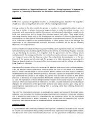 Report from Task Force on Burma/Myanmar - Council for a ...