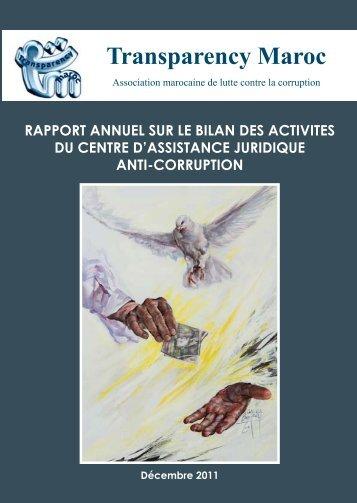rapport annuel sur le bilan des activites du centre d ... - Transparency