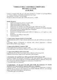 verbale dell'assemblea ordinaria dei soci aviph (12.05.2010)