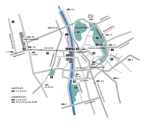 City Map with ALL locations of the Diagonale 2009