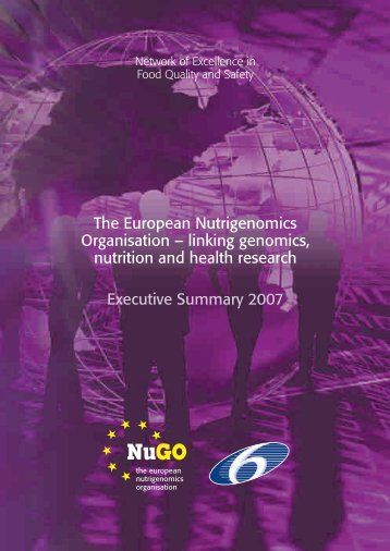The European Nutrigenomics Organisation – linking genomics ...