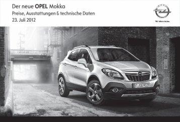Preisliste Opel Mokka