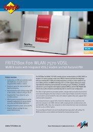 Manual pdf AVM FRITZ!Box Fon WLAN 7570 - Onyougo.com