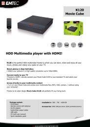 K120 Movie Cube HDD Multimedia player with HDMI! - Onyougo.com
