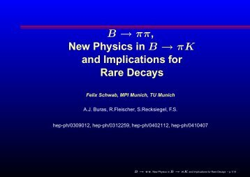 B → ππ , New Physics in B → πK and Implications for Rare Decays