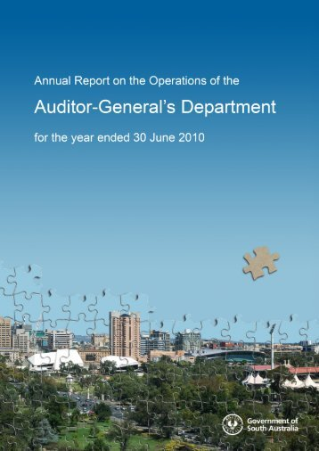 Report on the Operations of the Auditor-General's Department
