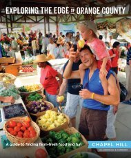 A guide to finding farm-fresh food and fun - Chapel Hill Visitors Bureau