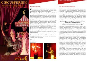 CirCuSferien - Circus Luna