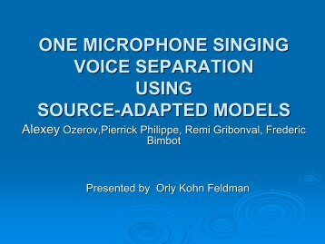 Microphone Singing Voice Separation Using Source-Adapted ... - SIPL