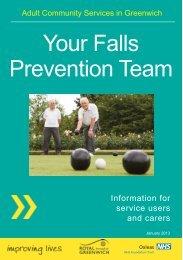 Falls Prevention Team Leaflet - Oxleas NHS Foundation Trust