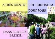 guide tourisme pour tous 2011 - Office du Tourisme du Kreiz Breizh