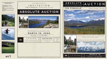 Brochure - J.P. King Auction Company