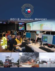 2012 Annual Report - Harris County Homeland Security ...