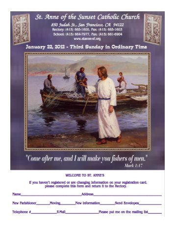 January 22, 2012 - St. Anne of the Sunset Catholic Church