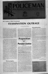 October 1982 - San Francisco Police Officers Association