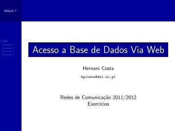 Acesso a Base de Dados Via Web