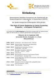 Programm - Krebsregister NRW
