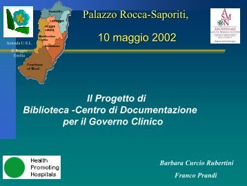 Relazione Barbara Curcio Rubertini - Biblioteca Medica