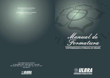Manual de Formatura - Ulbra