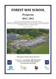 Governors of the Academy Trust - See School Prospectus
