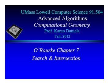 O'Rourke Chapter 7: Search & Intersection in PDF - Computer Science