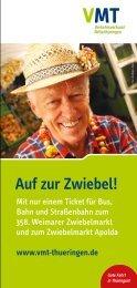 Auf zur Zwiebel! - VMT Verkehrsverbund Mittelthüringen