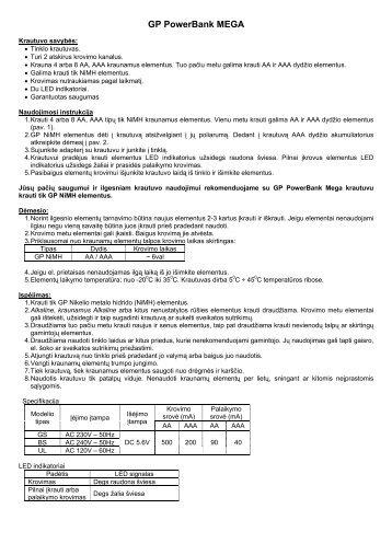 GP PowerBank MEGA - GP Elementai