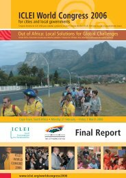 ICLEI World Congress 2006 Final Report