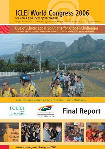 ICLEI World Congress 2006 Final Report