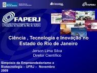 Ciência , Tecnologia e Inovação no Estado do Rio de Janeiro