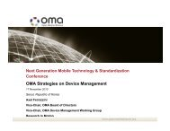 OMA Strategies on Device Management - Open Mobile Alliance