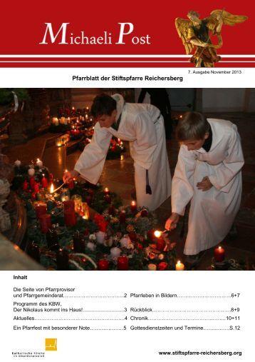 Pfarrblatt der Stiftspfarre Reichersberg - Stift Reichersberg