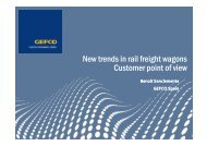 New trends in rail freight wagons Customer point of view - SIL