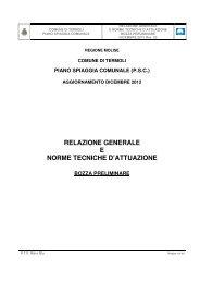 relazione generale e norme tecniche d'attuazione - Regione Molise