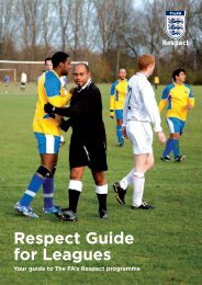 Respect Guide for Leagues - The Football Association