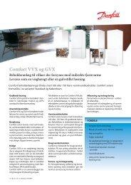 Comfort VVX og GVX - Danfoss Redan A/S