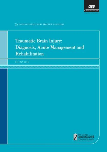 Traumatic brain injury: diagnosis, acute management and ... - ACC