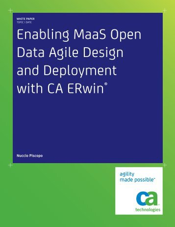 Enabling MaaS Open Data Agile Design and ... - CA ERwin
