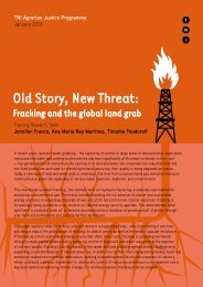 Fracking Old Story New Threat - Transnational Institute