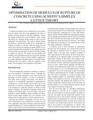 optimisation of modulus of rupture of concrete using scheffe's ... - ijater