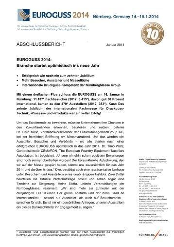 Download Abschlussbericht 2014 - Euroguss