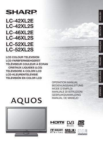LC-42XL2E LC-42XL2S LC-46XL2E LC-46XL2S LC-52XL2E LC - nl