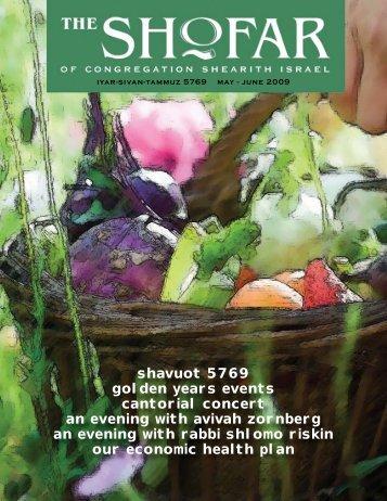 May-June 2009 - Congregation Shearith Israel