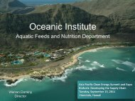 Oceanic Institute - Clean Technology and Sustainable Industries ...