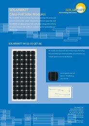 SOLARWATT Glass-Foil Solar Modules