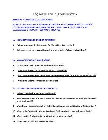 FAQs - Universiti Tunku Abdul Rahman
