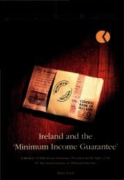 Ireland and the Minimum Income Guarantee - Combat Poverty Agency